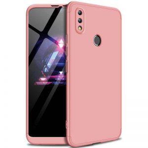 Матовый пластиковый чехол GKK 360 градусов для Huawei P Smart 2019 / Honor 10 Lite (Розовый)