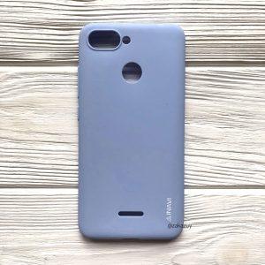 Матовый силиконовый TPU чехол на Xiaomi Redmi 6 (Light Blue)