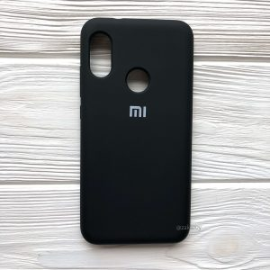 Оригинальный матовый силиконовый чехол (Silicone Cover) 360 для Xiaomi Redmi 6 Pro / Mi A2 Lite (Черный / Black)