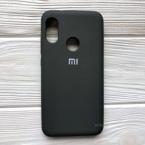 Оригинальный матовый силиконовый чехол (Silicone Cover) 360 для Xiaomi Redmi 6 Pro / Mi A2 Lite (Серый / Dark Olive)