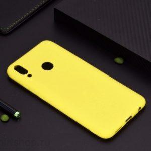 Матовый силиконовый (TPU) чехол (накладка) для Xiaomi Redmi 7 (Желтый)