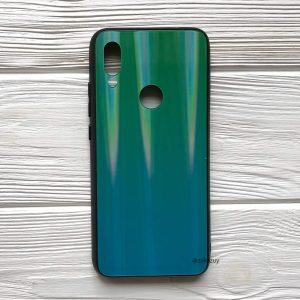 TPU+Glass чехол Gradient Aurora с градиентом  для Xiaomi Redmi 7 (Салатово-голубой)