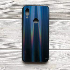 TPU+Glass чехол Gradient Aurora с градиентом для Xiaomi Redmi 7 (Синий)