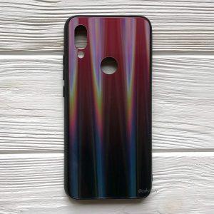 TPU+Glass чехол Gradient Aurora с градиентом для Xiaomi Redmi 7 (Красный)