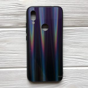 TPU+Glass чехол Gradient Aurora с градиентом для Xiaomi Redmi 7 (Фиолетовый / Черный)