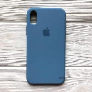 Оригинальный силиконовый чехол (Silicone case) для Iphone X / XS №36 (Azure)