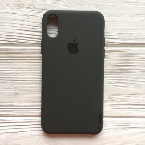 Оригинальный силиконовый чехол (Silicone case) для Iphone XR №3 (Grey)