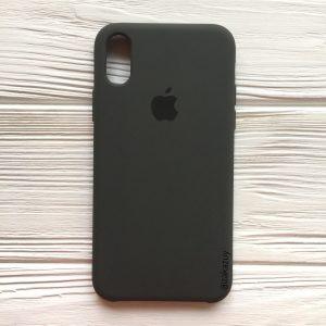 Оригинальный чехол Silicone Case с микрофиброй для Iphone XR №3 (Grey)