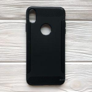 Силиконовый (TPU) чехол (накладка) Slim V2 для Iphone XS Max (Черный / Black)