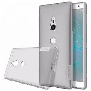 Силиконовый чехол (накладка) Nillkin Nature для Sony XZ2 (Серый / Grey)