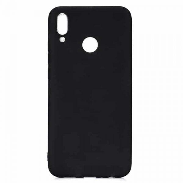 Матовый силиконовый TPU чехол на Huawei Honor 8x Max (Черный)