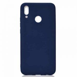 Матовый силиконовый (TPU) чехол (накладка) для Xiaomi Redmi 7 (Синий)