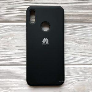 Оригинальный матовый силиконовый чехол (Silicone Cover) 360 для Huawei Y6 2019 / Honor 8A (Черный / Black)