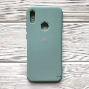 Оригинальный матовый силиконовый чехол (Silicone Cover) 360 для Huawei Y6 2019 / Honor 8A (Мятный / Mint)