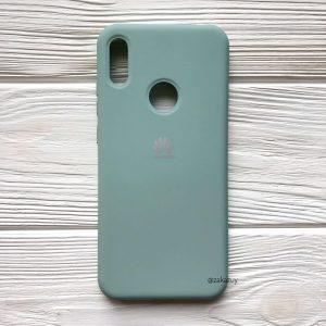 Оригинальный чехол Silicone Cover 360 с микрофиброй для Huawei Y7 2019 / Y7 Prime / Y7 Pro (Бирюза)