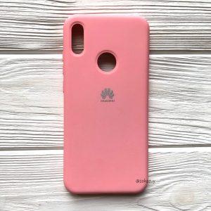 Оригинальный матовый силиконовый чехол (Silicone Cover) 360 для Huawei Y6 2019 / Honor 8A (Pink)