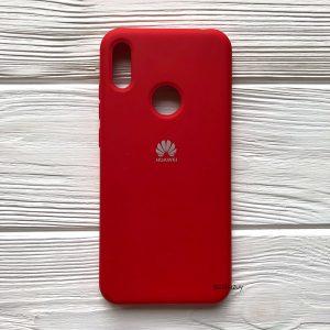 Оригинальный матовый силиконовый чехол (Silicone Cover) 360 для Huawei Y6 2019 / Honor 8A (Красный / Red)