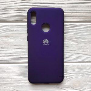 Оригинальный матовый силиконовый чехол (Silicone Cover) 360 для Huawei Y6 2019 / Honor 8A (Фиолетовый / Violet)