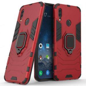 Ударопрочный чехол Transformer Ring под магнитный держатель для Huawei Y7 2019 / Y7 Prime 2019 / Y7 Pro 2019 (Red)