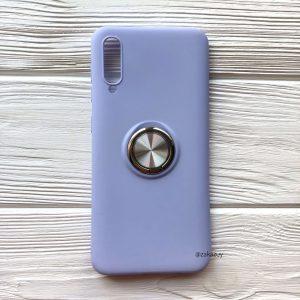 Cиликоновый чехол Summer ColorRing c креплением под магнитный держатель для Samsung A705 Galaxy A70 2019 (Голубой)