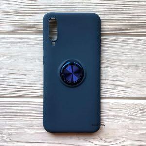 Cиликоновый чехол Summer ColorRing c креплением под магнитный держатель для Samsung A705 Galaxy A70 2019 (Синий)