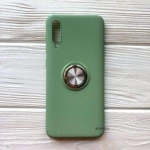 Cиликоновый чехол Summer ColorRing c креплением под магнитный держатель для Samsung A705 Galaxy A70 2019 (Салатовый)