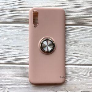 Cиликоновый чехол Summer ColorRing c креплением под магнитный держатель для Samsung A705 Galaxy A70 2019 (Розовый)
