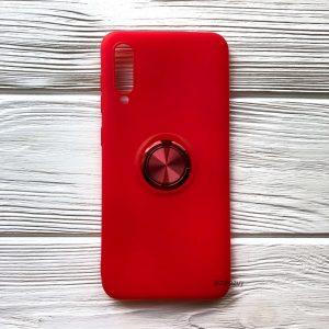 Cиликоновый чехол Summer ColorRing c креплением под магнитный держатель для Samsung A705 Galaxy A70 2019 (Красный)