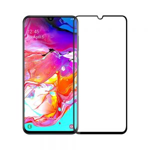 Защитное стекло 3D / 5D Full Glue на весь экран для Samsung A705 Galaxy A70 2019 (Black)
