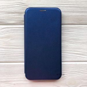 Кожаный чехол-книжка 360 с визитницей для Xiaomi Redmi 6 (Синий)