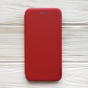 Кожаный чехол-книжка 360 с визитницей для Xiaomi Redmi Note 7 / 7 Pro (Красный)