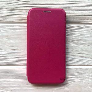 Кожаный чехол-книжка 360 с визитницей для Samsung Galaxy M10 (Розовый)