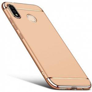 Матовый пластиковый чехол Joint Series для Samsung Galaxy M10 (Gold)