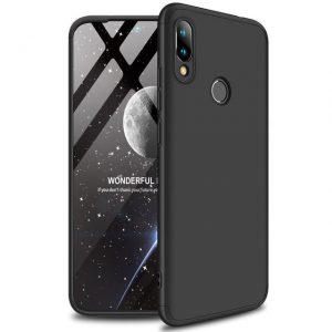 Матовый пластиковый чехол GKK 360 градусов для Xiaomi Redmi 7 (Black)