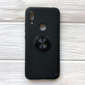 Cиликоновый чехол Summer ColorRing c креплением под магнитный держатель для Xiaomi Redmi 7 (Черный)