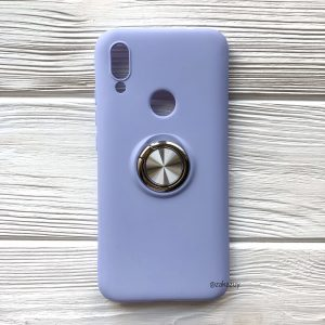 Cиликоновый чехол Summer ColorRing c креплением под магнитный держатель для Xiaomi Redmi 7 (Голубой)