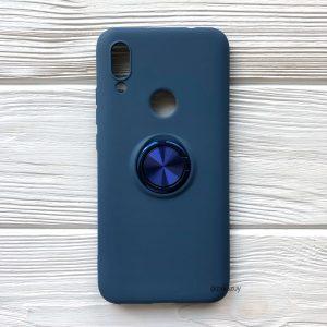 Cиликоновый чехол Summer ColorRing c креплением под магнитный держатель для Xiaomi Redmi 7 (Синий)