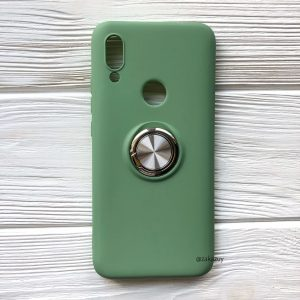 Cиликоновый чехол Summer ColorRing c креплением под магнитный держатель для Xiaomi Redmi 7 (Салатовый)