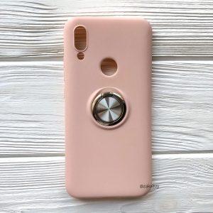 Cиликоновый чехол Summer ColorRing c креплением под магнитный держатель для Xiaomi Redmi 7 (Розовый)