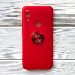 Cиликоновый чехол Summer ColorRing c креплением под магнитный держатель для Xiaomi Redmi 7 (Красный)