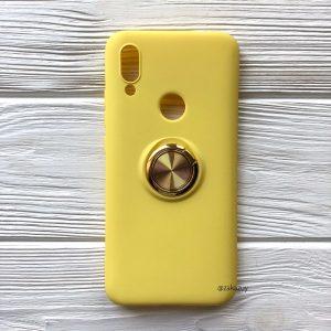 Cиликоновый чехол Summer ColorRing c креплением под магнитный держатель для Xiaomi Redmi 7 (Желтый)