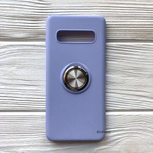 Cиликоновый чехол Summer ColorRing c креплением под магнитный держатель для Samsung G975 Galaxy S10 Plus (Голубой)