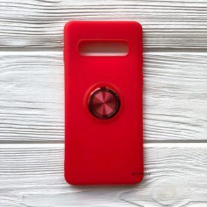Cиликоновый чехол Summer ColorRing c креплением под магнитный держатель для Samsung G975 Galaxy S10 Plus (Красный)