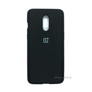 Оригинальный чехол Silicone Cover 360 с микрофиброй для OnePlus 7 (Black)