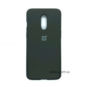 Оригинальный чехол Silicone Cover 360 с микрофиброй для OnePlus 7 (Dark Grey)