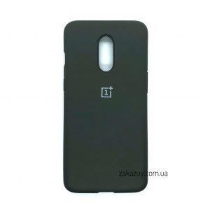 Оригинальный чехол Silicone Cover 360 с микрофиброй для OnePlus 7 (Dark Grey)