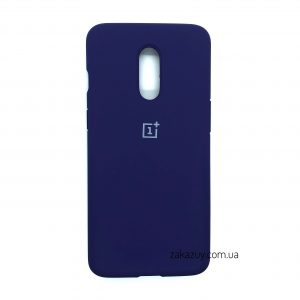 Оригинальный чехол Silicone Cover 360 с микрофиброй для OnePlus 7 (Purple)