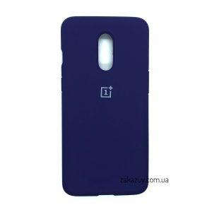 Оригинальный чехол Silicone Cover 360 с микрофиброй для OnePlus 7 (Purple)