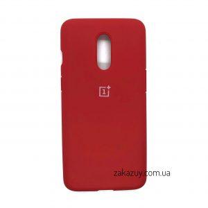 Оригинальный чехол Silicone Cover 360 с микрофиброй для OnePlus 7 (Red)