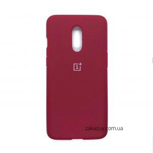 Оригинальный чехол Silicone Cover 360 с микрофиброй для OnePlus 7 (Hot Pink)